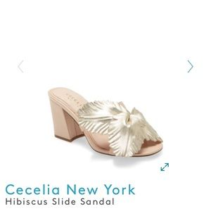 NEW Cecelia New York Hibiscus Slide Sandal